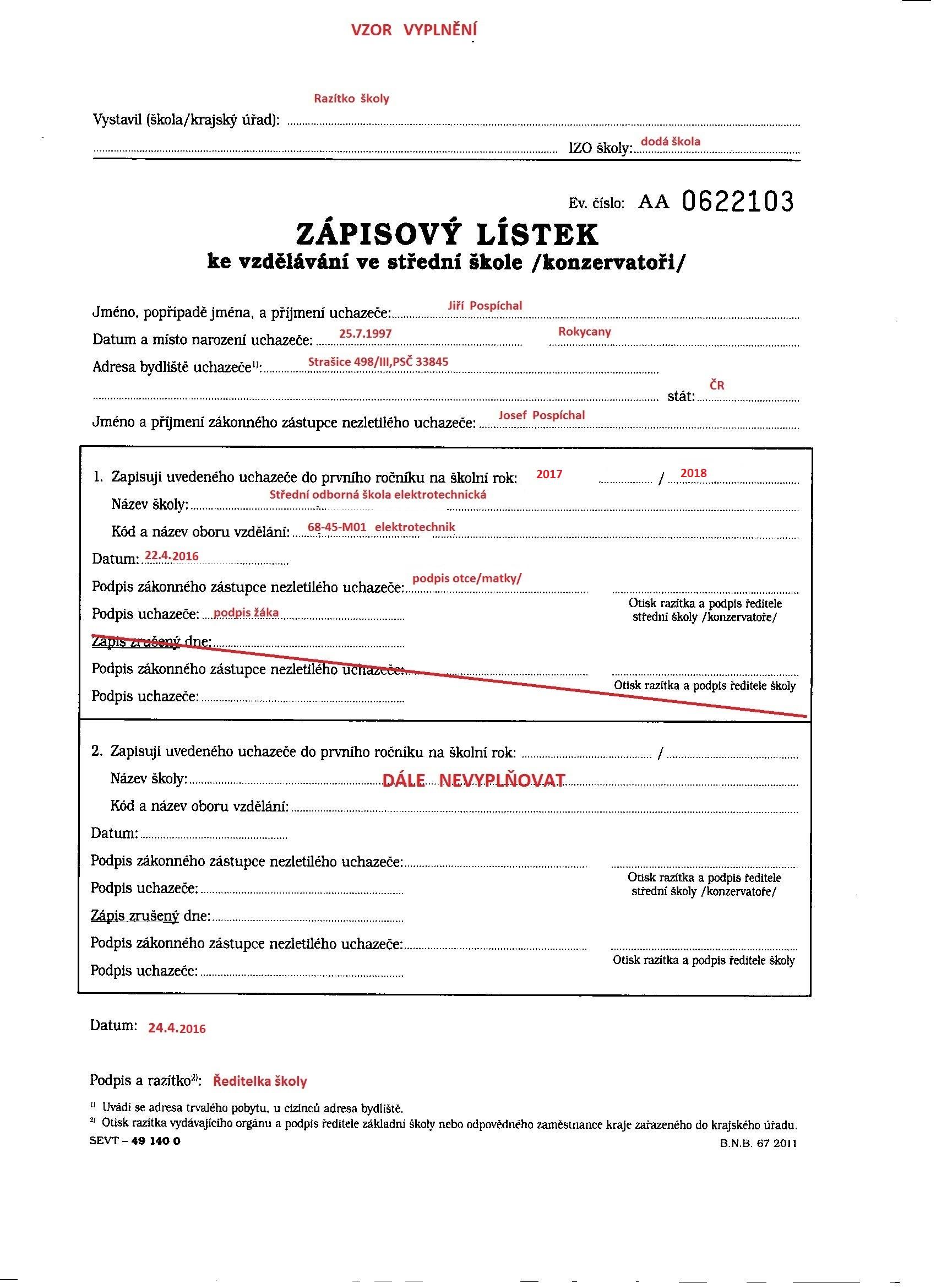 Podmínky pro přijetí - Střední odborná škola Jana Tiraye Velká Bíteš 1931ab29b0f